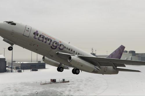 176fb6 gta v   air canada tango 737 200 at lsia in the snow 3